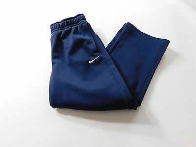 Nike Boys Sweat Pants Size 6 Blue Youth Kids Workout Fitness Athletic Gear Gym