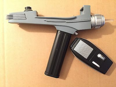 Star Trek Original Series Art Asylum / Diamond Black Handle Phaser Pistol Used!