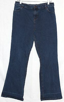 New Additions Maternity Denim Blue Jeans, Natural Waist, Size Large