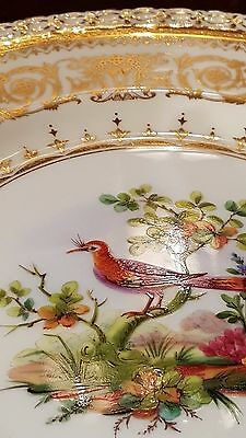 RARE Antique Minton Plate, Hand Painted,Artist Signed,Heavily Gilded,Impeccable