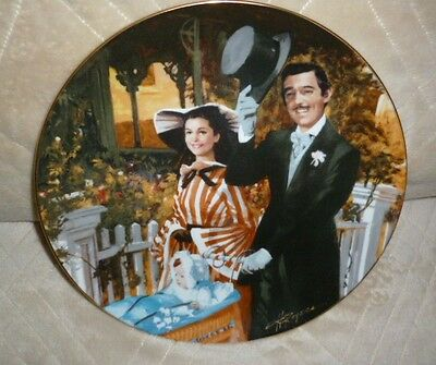 GONE WITH THE WIND Strolling in Atlanta Plate: Golden 50th Anniv Series 1989