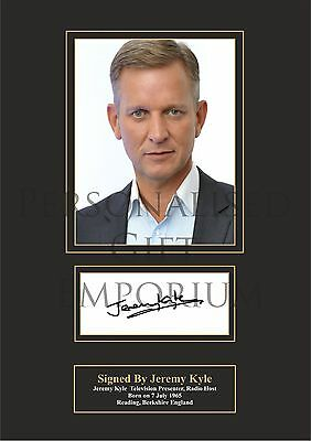 Jeremy Kyle Printed Autograph (Buy 3 Get Free Postage)