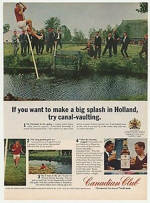 1966 Holland Canal Vaulting Canadian Club Whisky Ad