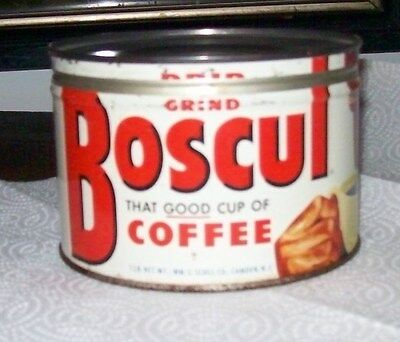 Vintage  Boscul Coffee Tin Can Container