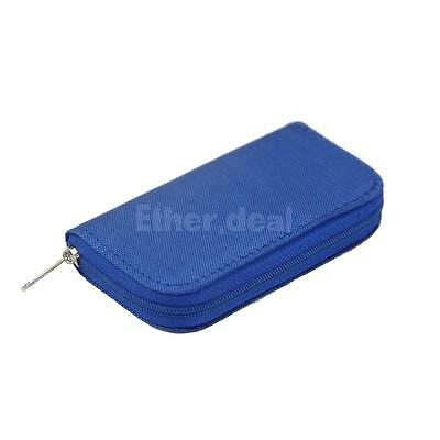 Hold Case Storage Carrying Hard Bag for Memory Card SD CF 3DS Games Blue
