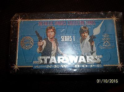 Metallic Images Collector Cards Searies 1 Star Wars A New Hope Tin Box