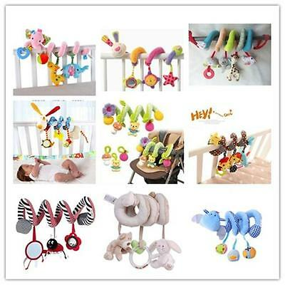 Baby Spiral Soft Toy Pram Car Seat Cot Crib Activity Rattle Plush Toys Gift - SS