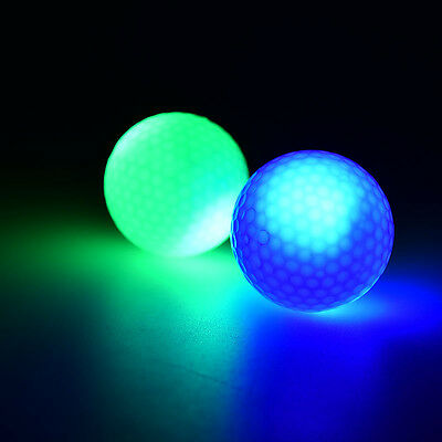 Flashing Glowing LED Electronic Golf Ball For Night Golfing Gift FO