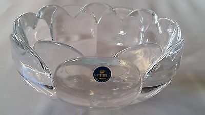 Gr. Royal Copenhagen Kristallschale Seerose / Crystal bowl water lily