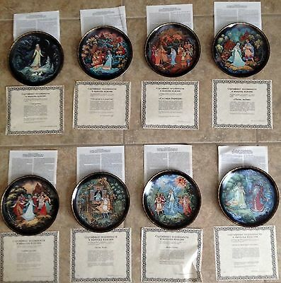 THE LEGENDS OF THE SNOWMAIDEN Russian Collector's Plates Porcelain Set 8