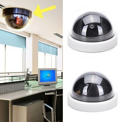 Cabinet Indoor Plastic Dome Dummy Fake Security CCTV Camera blinking LED WHITE a