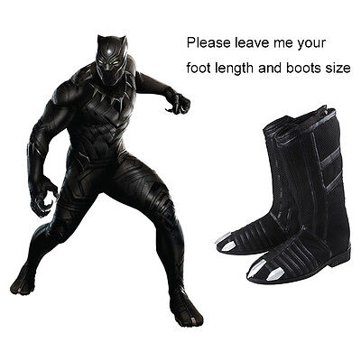 Marvel's Captain America: Civil War  T'Challa Black Panther Wakanda Shoes Boots