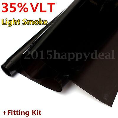 Light Smoke 35% VLT Car Home Office Window Glass Tint Film Tinting Limo 3m x75cm