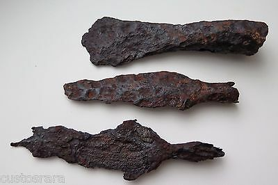 Lot of 3 Pcs.,Ancient Viking classic Blade from battle spear. RELIKT condition.