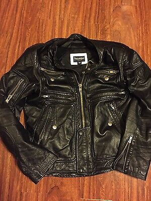 Triumph motorcycle leather jacket 50