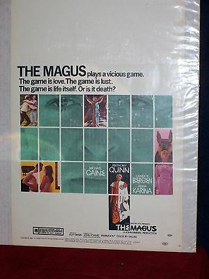"""THE MAGUS-14""""X22"""" Poster Anthony Quinn, Michael Caine"""