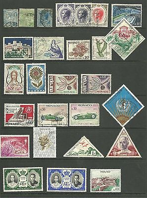 Monaco: 1891-1974 A selection used and M/M