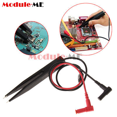 SMD Chip Test Clip Meter Lead Probe Multimeter Tweezer Capacitor Resistance MO
