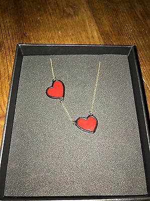 Fred Perry Amy Winehouse Gold Heart Necklace - No Longer Available BNWT