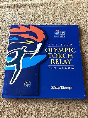 The Sydney 2000 Olympic Torch Relay Pin Album (The Sunday Telegraph) Incomplete