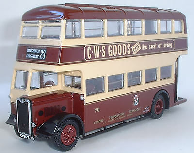 26311 EFE Guy Arab II Utility Double Deck Bus Cardiff Co Transport 1:76 Diecast