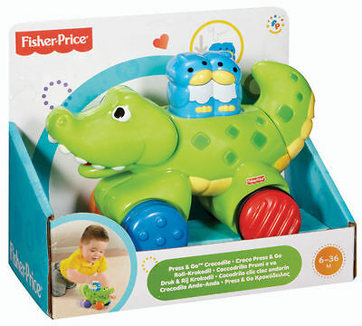 Fisher Price Amazing Animals Press And Go Crocodile Activity Toy Brand New N8161