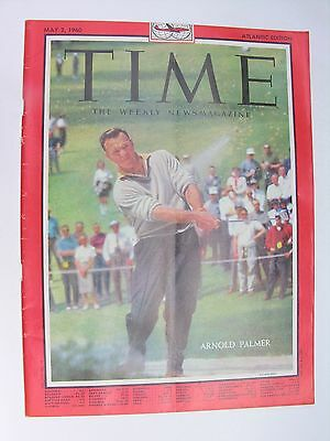 TIME MAGAZINE May 2 1960 Arnold Palmer Peter Sellers Polio Vaccine Adam Powell