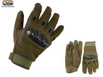 Predator Tactical Gloves Airsoft Military Army Carbon Fibre Neoprene Coyote