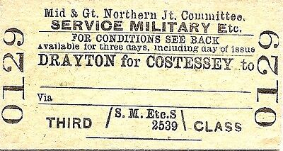 M.& G.N. Jt. Comm. Edmondson Ticket - Drayton for Costessey to ___________