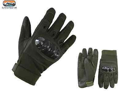 Predator Tactical Gloves Airsoft Military Army Carbon Fibre Neoprene Green
