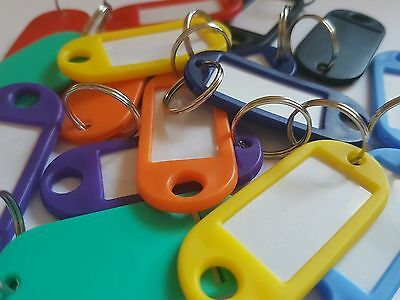 Key Tags/Key Ring/Name Fob I.D - 10, 20, 50, 100, 200 - Mixed Colours