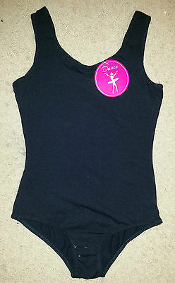 Brand New Girls Black Dance Leotard - Size 6