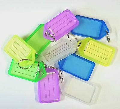 LARGE KEY TAGS/CLICK TAGS/ID Name Card/Key Ring-1,5, 10, 20, 50,100, 200 - Mixed