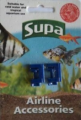 Supa Airline Clamps X 2 For Aquarium Air Pump Airline