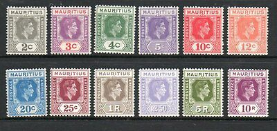Mauritius 1938 definitives SG252-263 mounted mint set stamps