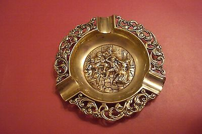 1938 Dutch .833 Silver Ashtray,fully Hallmarked -100% Authenticity  Vintage Rare
