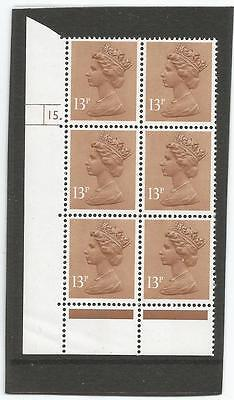 GB Machin Definatives  13p  Cylinder Block 15 dot  Unmounted Mint