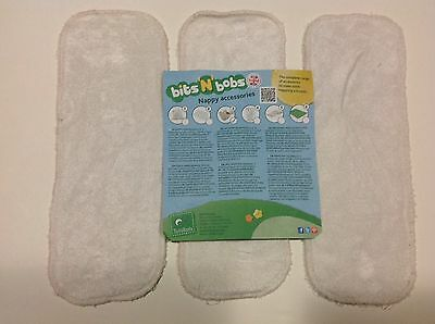 Totsbots USED Bamboo Boosters x 3 For Reusable Cloth Nappies - Set 1