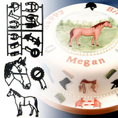 Patchwork Cutters - Horse Riding Cutter Set - Horses Cake Decorating