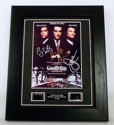 GOODFELLAS Signed PREPRINT + GOODFELLAS Film Cell Framed Movie Memorabilia GIFTS