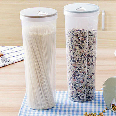 2 Ways Outlet Lid Food Storage Container Spaghetti Noodles Dispenser 1pc