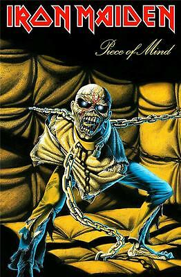 Official Licensed - Iron Maiden - Piece Of Mind Textile Poster Flag Metal