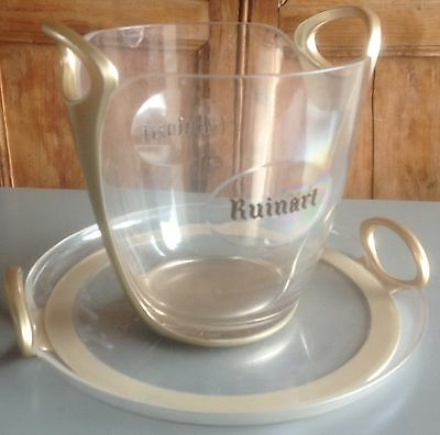 """Champagne, wine cooler, ice bucket  by """"Ruinart"""" and it's matching tray"""