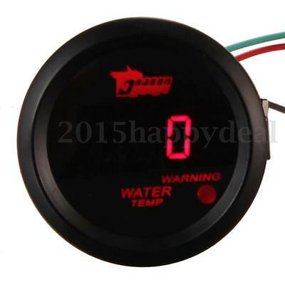"Car Auto Motor 2"" 52mm Red Digital Water Temp Temperature Gauge Celsius UK Black"