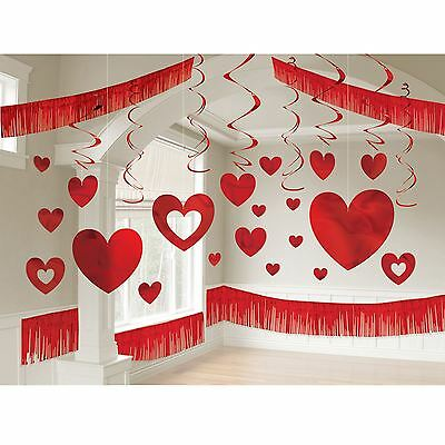 28Pcs Valentine's Day Foil Giant Room Decoration Kit Wedding Anniversary Hearts