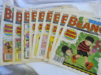 Vintage 1990 Beano Comics Issuess 2477 to 2485 In Very Good Condition
