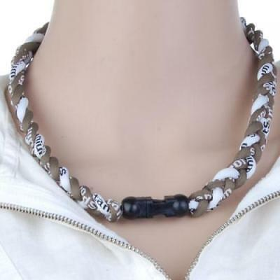 Cord Braided Titanium Baseball Football Sport Tornado Lonic Necklace 20in