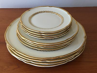 12 pieces Castleton Laurel: set of 4 each Dinner, Salad and Bread Plates