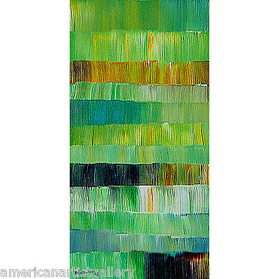 ABSTRACT ORIGINAL Modern Painting Large 24X48 Vertical Wall Art by Thomas John