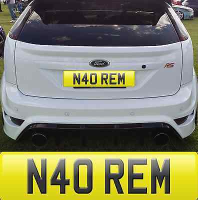 N40 Rem Remmi Remi Remmy Remmie Remie Cherished Number Plate All Fees Included